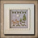 Country Cottage Needleworks Stickvorlage Frosty Forest Snowy Deer