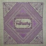 Northern Expressions Needlework Stickvorlage Amethyst February