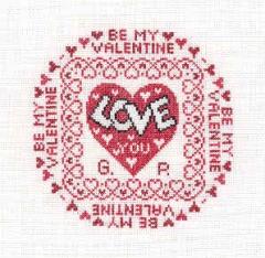 Gisela Süskind Stickvorlage Be my valentine