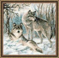 Riolis Stickpackung 1393 Wolfspärchen