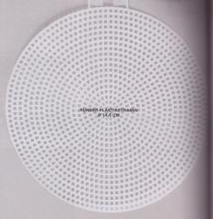 Plastikstramin rund (Durchmesser14,6 cm) - Rico Design