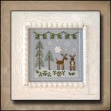 Country Cottage Needleworks Stickvorlage Frosty Forest Snowy Reindeer