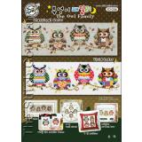 The Owl Family (Eulen) - Stickpackung Soda Stitch