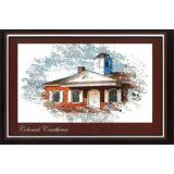 Ronnie Rowe Designs Stickvorlage Colonial Series Colonial Courthouse