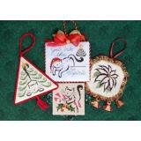 Brittercup Designs Stickvorlage Christmas Ornaments II
