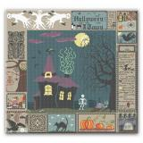 Farbenfroh Stickvorlage Halloween Sampler