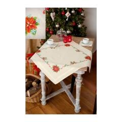 Vervaco Stickpackung PN-0150997 Tischdecke Weihnachtsstern 80x80