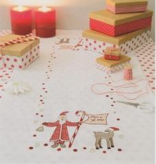 Läufer Stickpackung Rico Design 31182.52.12 vorgezeichnet Weihnachtsmann 45x100