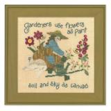 Just Another Button Company Stickvorlage Gardeners Paint