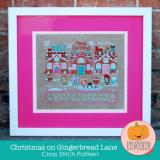 Christmas On Gingerbread Lane - Stickvorlage  Frosted Pumpkin Stitchery