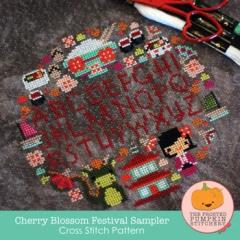 Frosted Pumpkin Stitchery Stickvorlage Cherry Blossom Festival Sampler