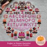 Frosted Pumpkin Stitchery Stickvorlage Sugar Is Sweet Sampler