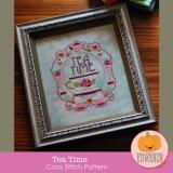 Frosted Pumpkin Stitchery Stickvorlage Tea Time
