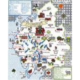 Kreuzstichpackung Bothy Threads - Maps - Cumbria (Landkarte)