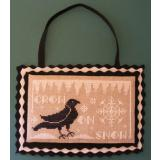 Misty Hill Studio Stickvorlage Crow On Snow