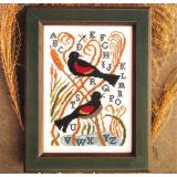 Red Winged Blackbird - Stickvorlage Carriage House Samplings