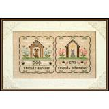 Country Cottage Needleworks Stickvorlage Furry Friends