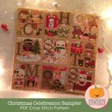 Frosted Pumpkin Stitchery Stickvorlage Christmas Celebration
