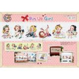 Kreuzstichpackung Soda Stitch mit Aida - Pin Up Girls