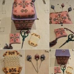 MTV Designs Stickvorlage A Little Spring Sewing Basket