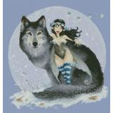Fairy And Wolf (Moguerou) - Stickvorlage Lena Lawson Needlearts