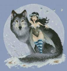 Stickvorlage Lena Lawson Needlearts Fairy And Wolf (Moguerou)