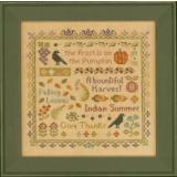 Elizabeths Designs Stickvorlage Antique Autumn Sampler