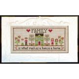 Country Cottage Needleworks Stickvorlage Family Home