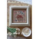 Basket Of Cherries - Garden Club #1 - Kreuzstichvorlage Blackbird Designs