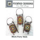 Foxwood Crossings Stickvorlage Block Party Sleds