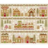 Kreuzstichvorlage Country Cottage Needleworks - 11 Vorlagen Gingerbread Village