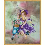 Violetta - Stickvorlage Cross Stitching Art