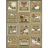 12 Kreuzstichvorlagen Little House Needleworks - Little Sheep Virtues