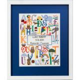 Cherry Lane Designs Stickvorlage Bright Alphabet Birth Announcement