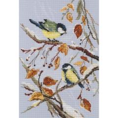 RTO Stickpackung M579 Vögel im Schnee 22x33