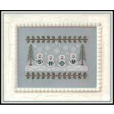 Kreuzstichvorlage Country Cottage Needleworks - Snowmen