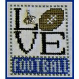 Hinzeit Stickvorlage Love Bits Love Football