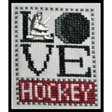 Hinzeit Stickvorlage Love Bits Love Hockey