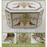 MTV Designs Stickvorlage Tree Of Life Sewing Box