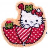 Knüpfpackung Vervaco - Knüpfformteppichpackung Hello Kitty
