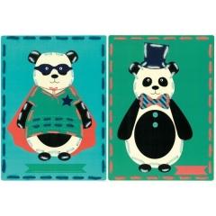 Vervaco Stickkarten PN-0157042 Pandas im Zirkus 2er-Pack