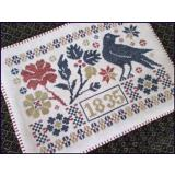 Coverlet Candle Mat - Stickvorlage The Scarlett House