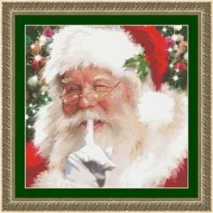 Kustom Krafts Stickvorlage Santa Shhh