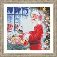 Kustom Krafts Stickvorlage Santa Checking His List