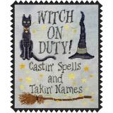 Witch On Duty - Stickvorlage Waxing Moon