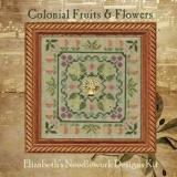 Elizabeths Designs Stickvorlage Colonial Fruits & Flowers