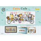 Cat's Cafe (Katzen) - Stickpackung Soda Stitch