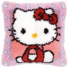 Knüpfpackung Kissen Hello Kitty - Vervaco