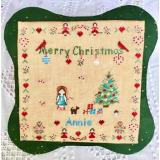 All Children Love Christmas -Girl (Buttons included) - Stickvorlage MTV Designs