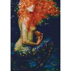 Rote Meerjungfrau- Stickpackung RTO